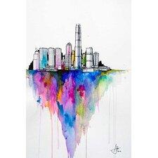 'Monolith II' by Marc Allante Graphic Art on Canvas