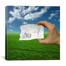'Pencil with Camera 9 - Farmer' by Ben Heine Photographic Print on Canvas