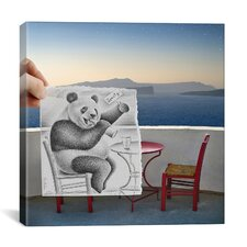 'Pencil with Camera 41 - Lonely Panda' by Ben Heine Photographic Print on Canvas