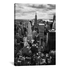 New York City Downtown II Canvas Wall Art by Nina Papiorek