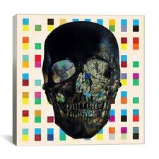 Dark Skull Cubes Canvas Print Wall Art