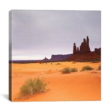 'Monument Valley Panorama #1, Part 2 of 3' by Moises Levy Photographic Print on Canvas