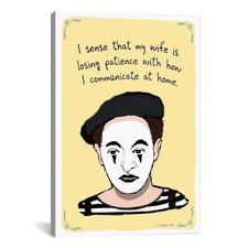Mime Problems Canvas Wall Art by Christopher Rozzi