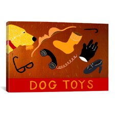 Dog Toys Yellow Canvas Print Wall Art