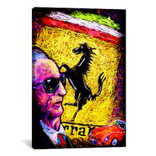 Enzo Ferrari Emblem Canvas Print Wall Art