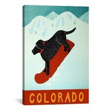Colorado Snowboard Black Canvas Print Wall Art