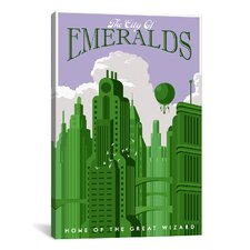 Emerald City Travel Canvas Print Wall Art