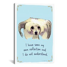 Confused Chinese Crested Canvas Print Wall Art
