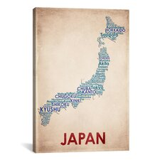 American Flat Japan on Graphic Art on Canvas