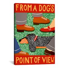 From a Dog's Point of View Canvas Print Wall Art