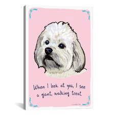 Hungry Hungry Havanese Canvas Print Wall Art