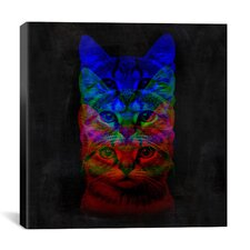 Hipster Cat #2 Print by Maximilian San Graphic Art on Canvas