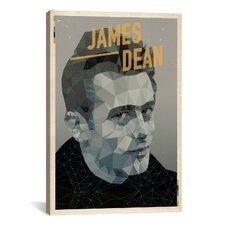 American Flat James Dean Graphic Art on Canvas