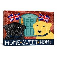 Home Sweet Home Brit Black Canvas Print Wall Art