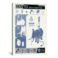 How to Build an Elephant Lamp Canvas Print Wall Art