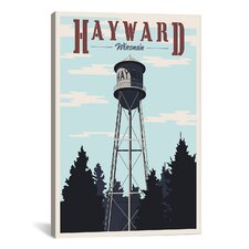 Hayward Water Tower Canvas Print Wall Art