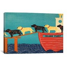 Island Ferry Canvas Print Wall Art