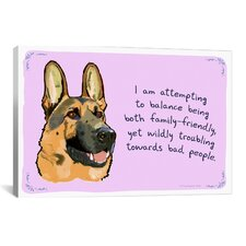 Tiny Confessions Balanced German Shepherd Canvas Print Wall Art