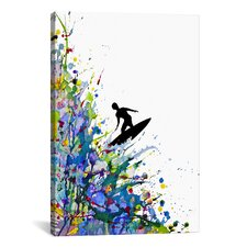 'A Pollock's Point Break' by Marc Allante Painting Print on Canvas