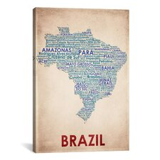 American Flat Brazil Graphic Art on Canvas