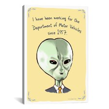 Tiny Confessions Alien Dmv Canvas Print Wall Art
