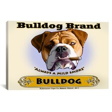 Brian Rubenacker Bulldog Cigar Canvas Print Wall Art