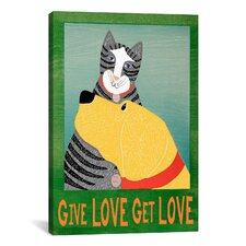 Get Love Give Canvas Print Wall Art