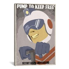 Steve Thomas Pump To Keep Free Canvas Print Wall Art
