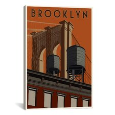 Steve Thomas Brooklyn Travel Poster Canvas Print Wall Art
