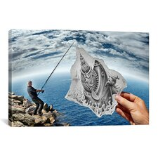 'Print - Pencil Vs Camera 59 - Shark' by Ben Heine Photographic Print on Canvas