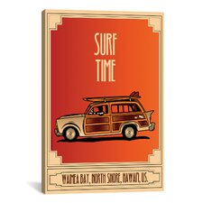 American Flat Surf Time Graphic Art on Canvas