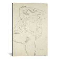 Gustav Klimt Reclining Semi-Nude with Spread Legs (Liegender Halbakt Mit Gespreizten Beinen) Canvas Print Wall Art