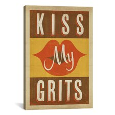 'South Carolina Series: Kiss My Grits' by Anderson Design Group Textual Art on Canvas