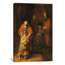 Rembrandt Return Of The Prodigal Son 1668-1669 Canvas Print Wall Art