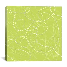 Dashes by Erin Clark Graphic Art on Canvas in Yellow