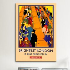 Brightest London is Best Reached by Underground Vintage Advertisement on Canvas