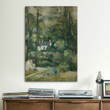 'Maisons Dans La Verdure 1881' by Paul Cezanne Painting Print on Canvas