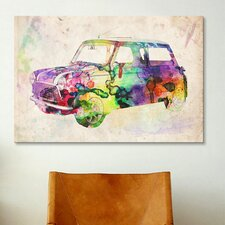 'Mini Cooper (Urban) II' by Michael Tompsett Graphic Art on Canvas