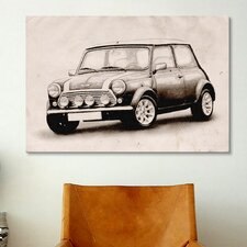 'Mini Cooper Sketch' by Michael Tompsett Graphic Art on Canvas