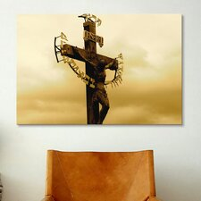 Christian Crucifix Statue Karlovy Most, Prague Photographic Print on Canvas