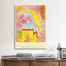 'Magdalena Before the Conversion' by Paul Klee Painting Print on Canvas