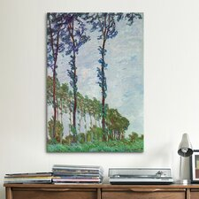 'Poplars (Wind Effect)' by Claude Monet Painting Print on Canvas