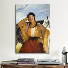 'Gypsy with a Cigarette' by Edouard Manet Painting Print on Canvas