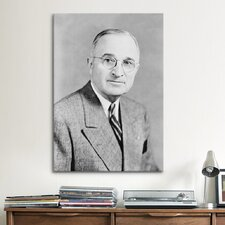 Political Harry S Truman Portrait Photographic Print on Canvas