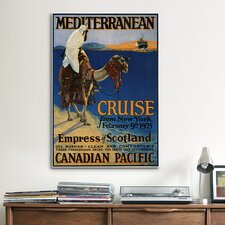 Empress of Scotland (Mediterranean Cruise from New York) Vintage Advertisement on Canvas