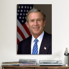 Political George W. Bush Portrait Photographic Print on Canvas