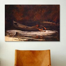 'Hound and Hunter' by Winslow Homer Painting Print on Canvas