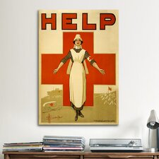 Help Australian Red Cross Vintage Poster Canvas Print Wall Art