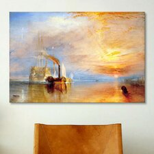 'Fighting Temeraire' by Joseph William Turner Painting Print on Canvas