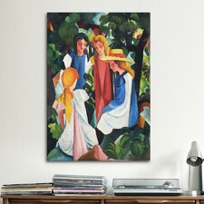 'Four Girls' by August Macke Painting Print on Canvas